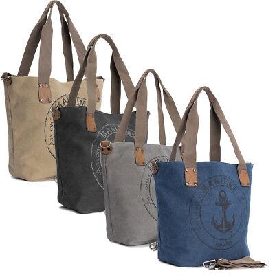 Schultertasche Handtasche (Shopper Umhängetasche Damen Schultertasche Handtasche Tasche Canvas Bag Groß 51)