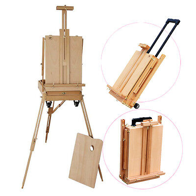- French Easel Wooden Sketch Box Portable Folding Art Artist Painters Tripod New