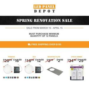 SPRING SALE! NEW ITEM!!  4-inch Recessed Round LED Panel Light with Integrated color select 3000K 4000K or 5000K