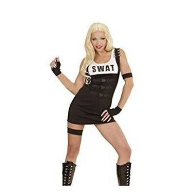 S.w.a.t Girl (l) (dress Armband Garter Gloves) - Costume Ladies Swat Cop - Swat Girl Costume