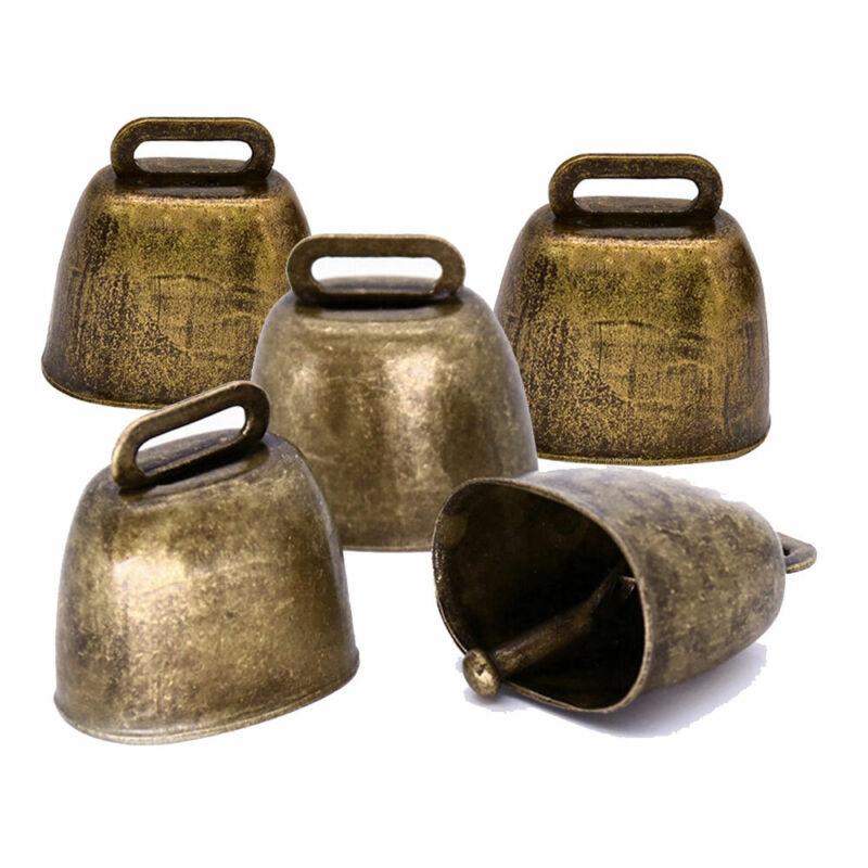 5X Cow Horse Sheep Cattle Farm Animal Copper Loud Brass Christmas Jingle Bell