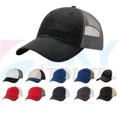 Mesh Back Trucker Baseball Cap (New Richardson Garment Washed Trucker Baseball Cap Snapback Mesh Back Hat)
