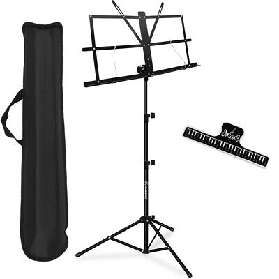 New Guardian SM-030-BK Collapsible Music Stand Black Free Shipping