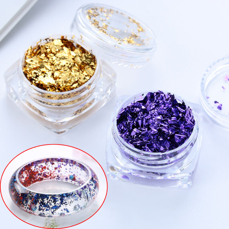 Jewelry Making Gold Foil Filling Materials Resin filler Crys