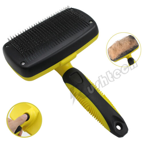 Pet Dog Cat Hair Remover Comb Grooming Massage Deshedding Self Cleaning Brush