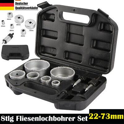 Fliesen Bohrer Fliesenlochbohrer Dosenbohrer Bohrkrone Keramik Set 9tlg Koffer