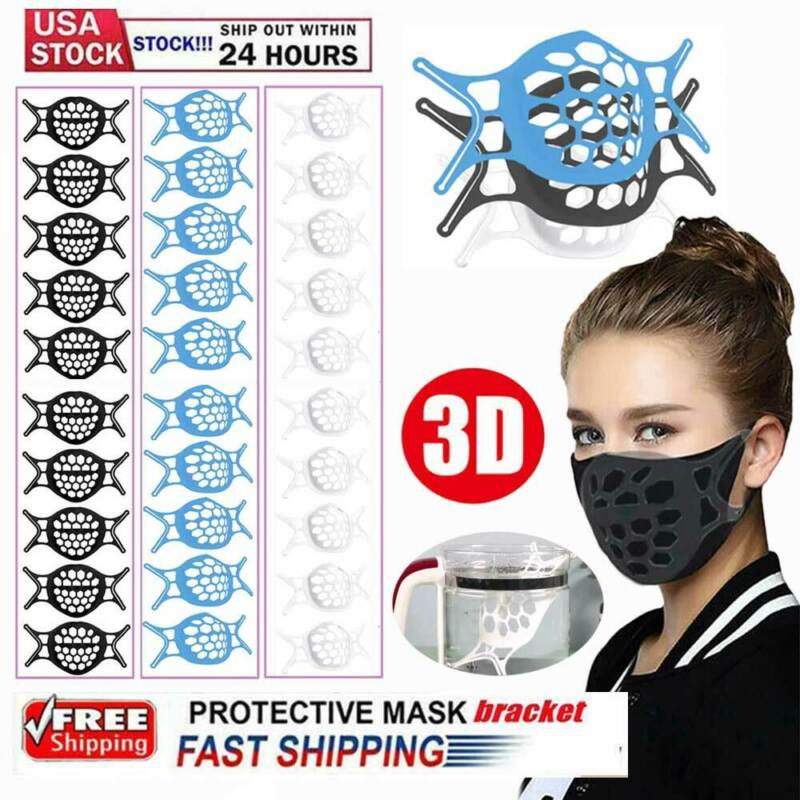 10x Face Mask Bracket Mouth Separate Inner Stand Soft Silicone Holder Frame USA