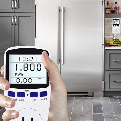 Smart Digital Power Monitor Wattmeter Plug Socket Volt Wattage Kwh Cost Meter Us