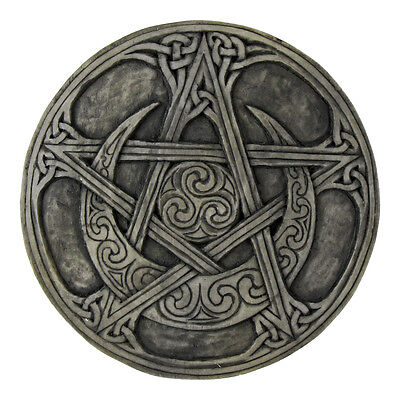 Moon Pentacle Plaque | Stone Finish | Dryad Designs | Pagan Wiccan Pentagram
