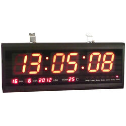 big Digits LED Wall Desk Clock with Calendar Temperature
