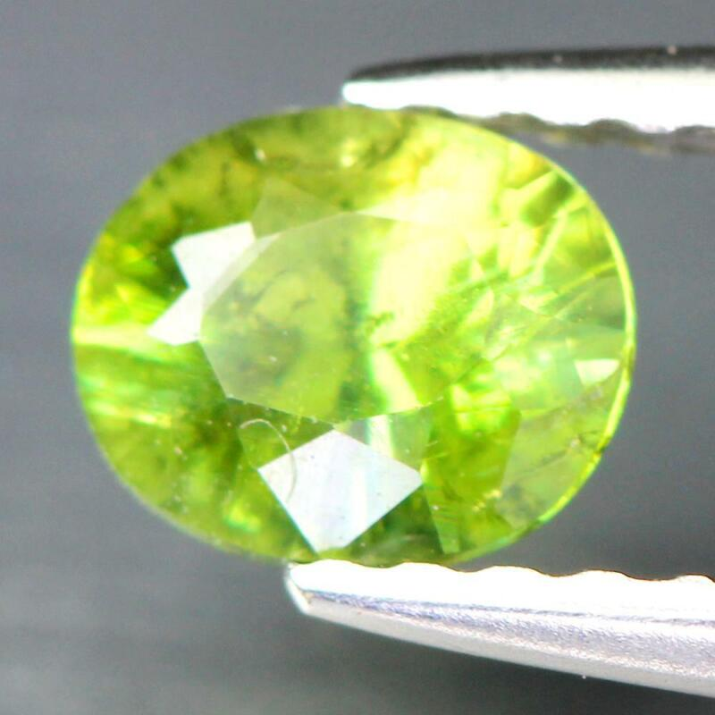 Certificate Include 0.47Cts Natural Green Demantoid Garnet Oval Loose Gemstone