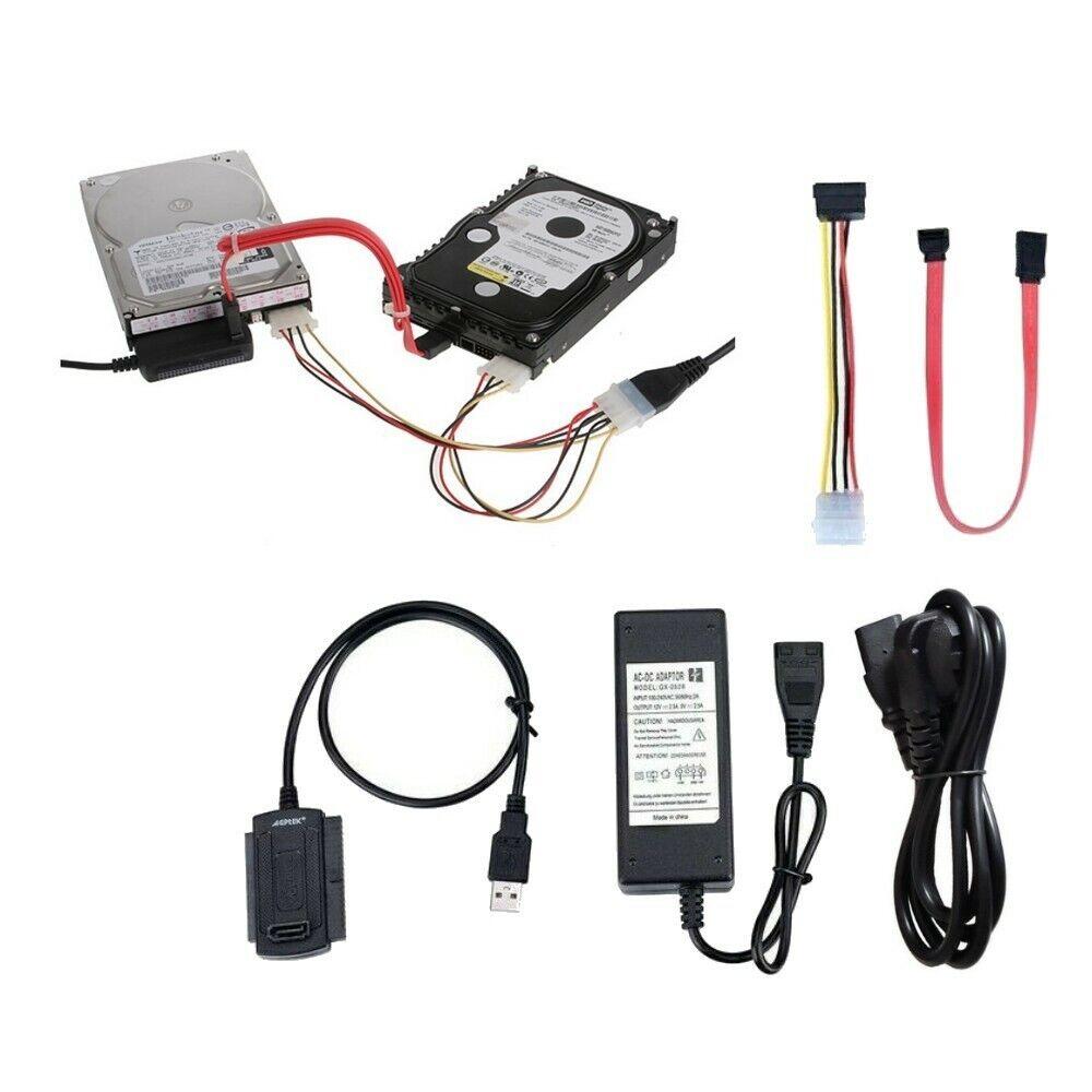 "SATA IDE Adapter Kabel zu Festplatte 2,5"" 3,5"" 5,25"" Laufwerk HDD Computer MAC"