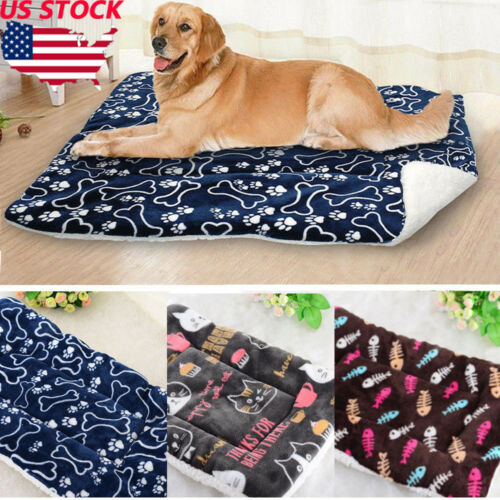 Cute Pet Dog Cat Bed Cushion Mat Pad Kennel Crate Cozy Warm