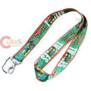 Teenage-Mutant-Ninja-Turtles-TMNT-Lanyard-Key-Chain-ID-Holder-Dual-Prints