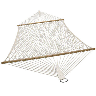 Sunnydaze 2-Person Cotton Spreader Bar Rope Hammock - 450-Pound Weight Capacity ()