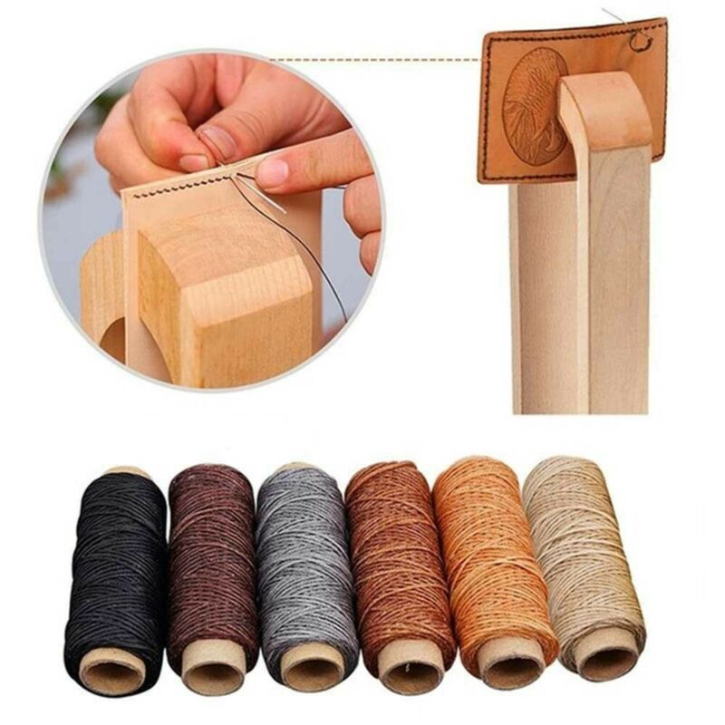 Tool Handicraft Flat Hand Stitching Sewing Line Waxed Thread Leather Cord