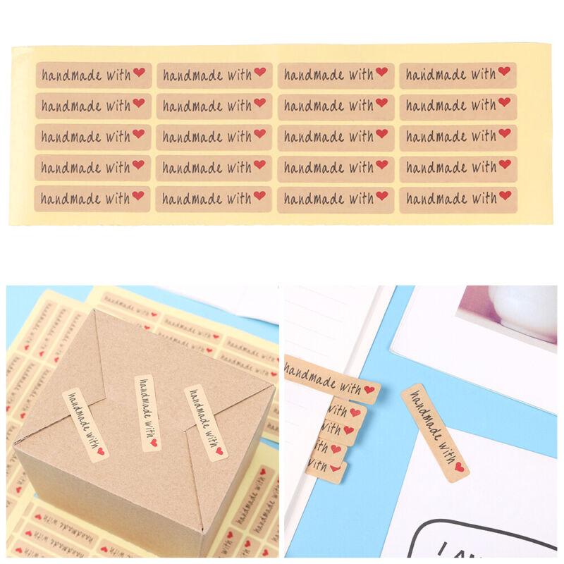 Party Supplies Sealing Craft Gift Boxes Seal Label Handmade Sticker Kraft Paper