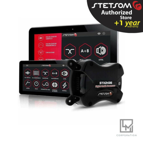 Stetsom STX 2436 Bluetooth Digital Processor Android Car Audio 3 Day Delivery US