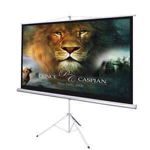 92 Portable Tripod Projector Projection Screen 16:9 Ratio Home Competition Movie