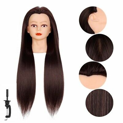 Cosmetology Mannequin Head Human Hair Hairdresser Training Super Long 26-28 New