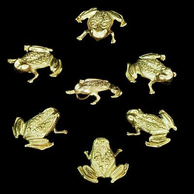 Frog Slide Pendant Jewelry - One charming little frog slide pendant, solid yellow gold M-F