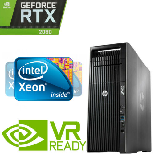 Hp Z620 4k Gaming Computer Workstation 2.7ghz 24 Cores Rtx 2080 96gb 512gb Ssd