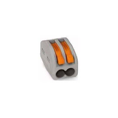 Wago 222-412 2-Leiter-Klemme 0,08-2,5mm² grau mit Betätigungshebeln 50 Stück