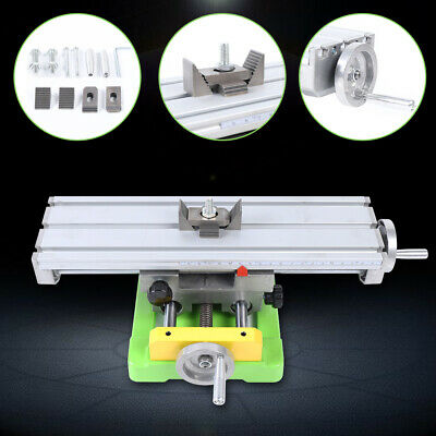 2axis Carbide Steel Cross Slide Vise Worktable Milling Support Table Bench Mill