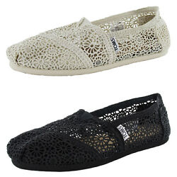 Toms Womens Classic Crochet Slip On Alpargata Shoe