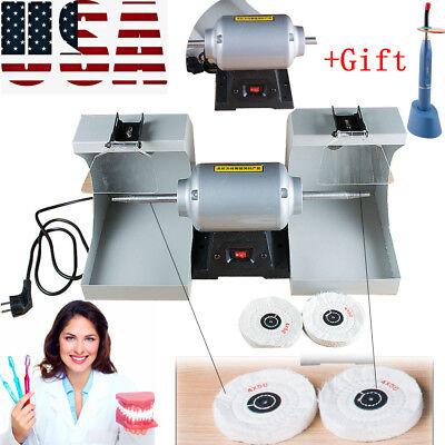 Denture Polishing Machine Polisher Dental Jewelry Motor Lathe Bench Grinder Easy