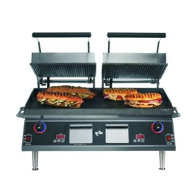 Star Cg28iea 28 Grooved Pro-max Sandwich Panini Grill W Timer 220v New In Crate