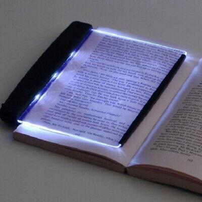 US LED Book Light Desk Lamps Reading Night Light Flat Plate Portable Car Travel