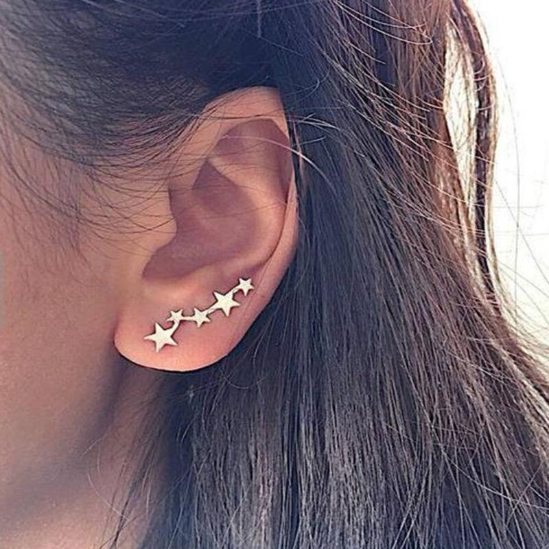 Copper leaf earring,Copper tone studs, statement stud earring,Crawler look earring Crawler climber look earring statement leaf earring