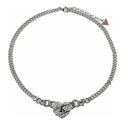 Guess Jewelry UBN71271 Ladies Silver Stainless Steel Crystal Charm Necklace Crystals Guess Ladies Jewelry