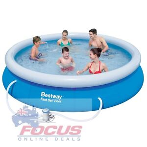 Bestway Above Ground Fast Set Swimming Pool Blue West Melbourne Melbourne City Preview