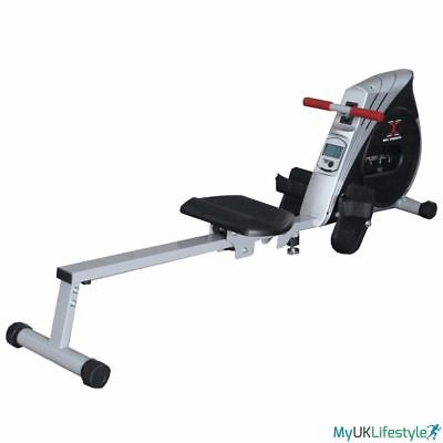 HTH Fitness Hydraulic Rowing Machine Indoor Rower Cardio Workout Gym Trainer LCD