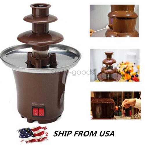 Chocolate Fountain Machine Fondue Maker Heated Waterfall Hom
