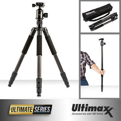 "60"" Heavy Duty Carbon Fiber Tripod Monopod with Ball Head for Cameras Camcorders"