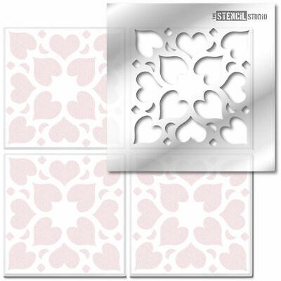 Hidcote Tile STENCIL. Reusable. Paint Floors & Walls. Home Decorating DIY 10626