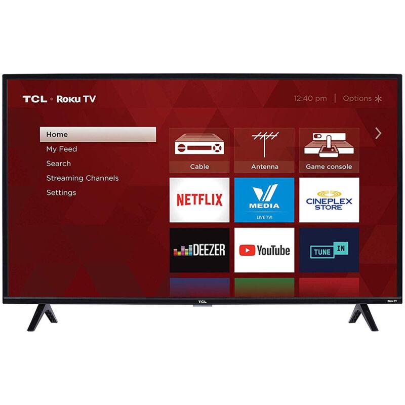 TCL 40S325 40-Inch Class LED 3-Series  1080p 3 HDMI USB Smart Roku TV, Black