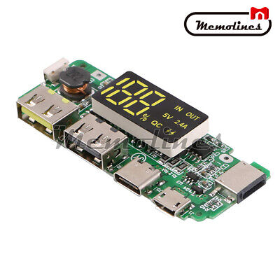 Qc Dual Usb Lithium 18650 Battery Diy Charger Module Step-up Diy Charging Board
