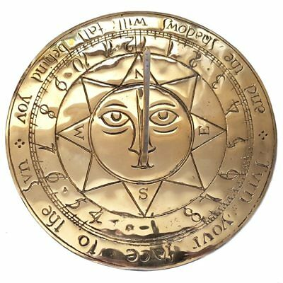 Giant Sun Face Brass Sundial