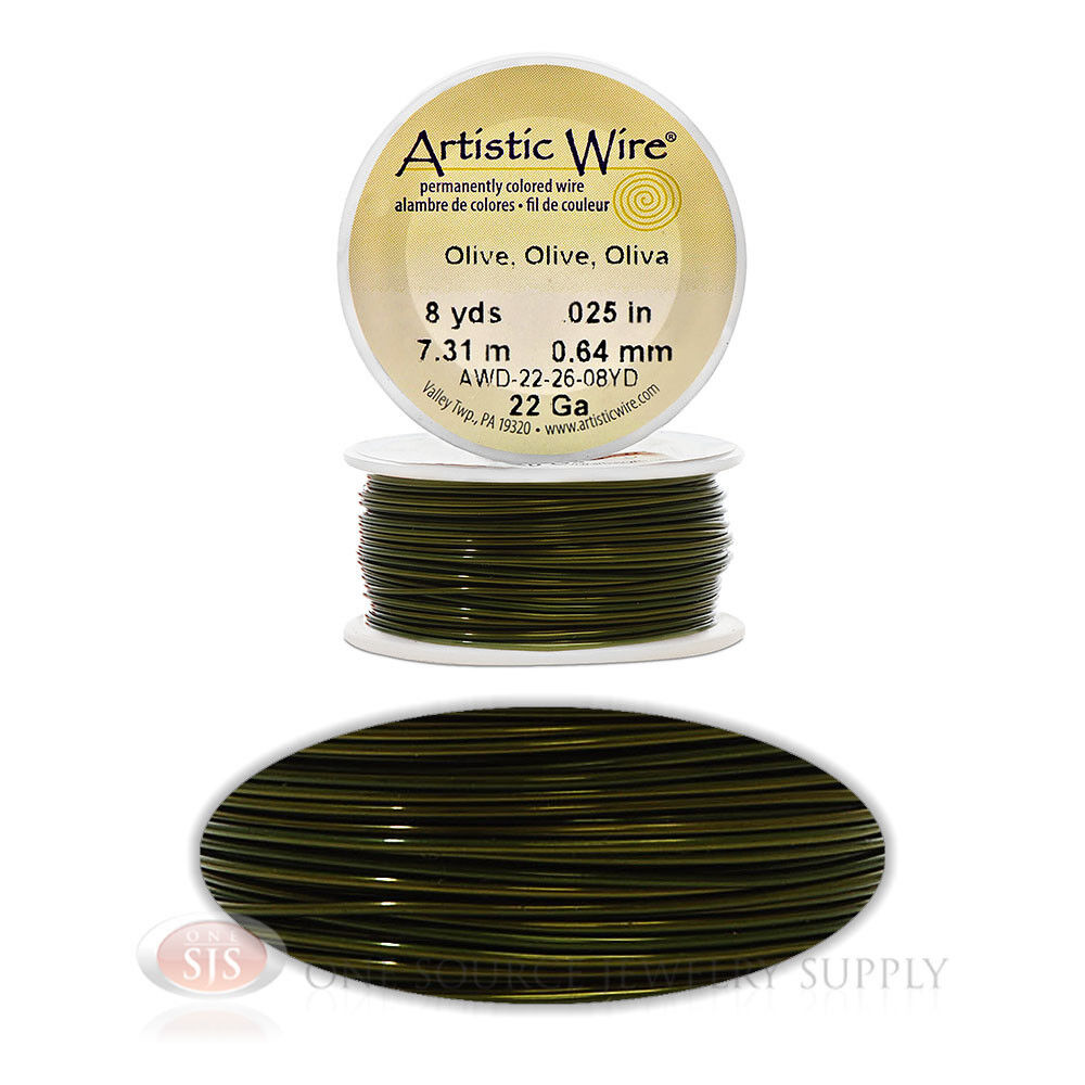 22 pa wiring 22 gauge olive artistic craft wire 24 feet 7 31 meters jewelry  artistic craft wire 24 feet 7 31 meters