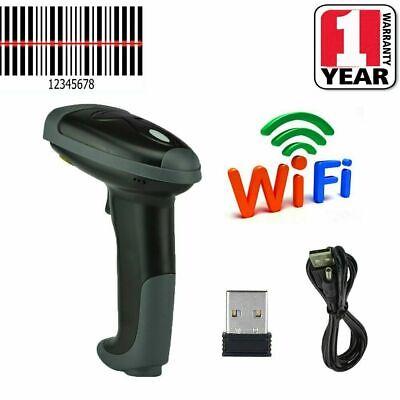 2.4ghz Wifi Usb Handheld Wireless Laser Cordless Barcode Scanner Scan Gun Reader