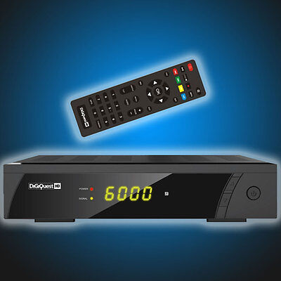 Satelliten Receiver Digiquest 8010 HD Digital FTA FullHD DVB-S2 HDMI Scart USB