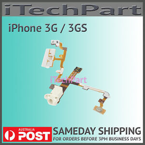Headphone-Audio-Jack-Flex-Ribbon-Cable-Replacement-Part-for-iPhone-3G-3GS-White