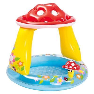 "Intex 40"" Inflatable Mushroom Baby Paddling Pool Canopy Toddler Summer Garden"
