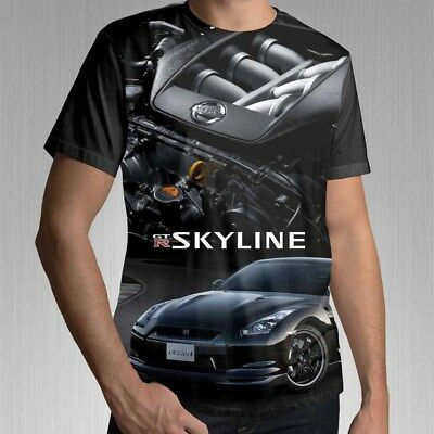 New Nissan GTR Japanese Sport Car Tee Full Print Men's T-Shirt Best Design