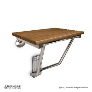 12 1/2 in. x 15 in. DreamLine Natural Teak Folding Shower Seat