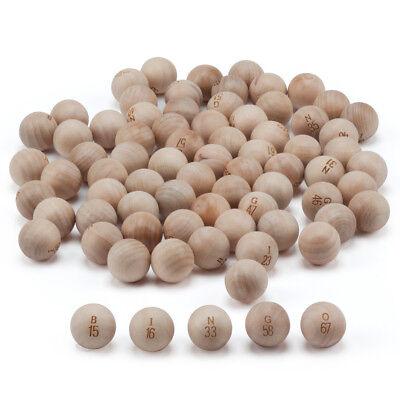 Bingo Set (7/8-Inch Replacement Wooden Bingo Balls. Wood Bingo Ball)